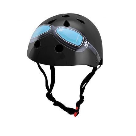 kiddimoto® Helm Design Black Google, Gr. M