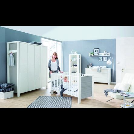Schardt chambre d 39 enfant milano armoire 4 portes pin for Armoire chambre d enfant