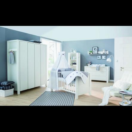 Schardt Cameretta Milano, bianco, armadio 4-ante XL