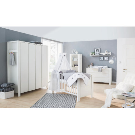 Schardt Kinderkamer Milano wit 4-deurs extra breed