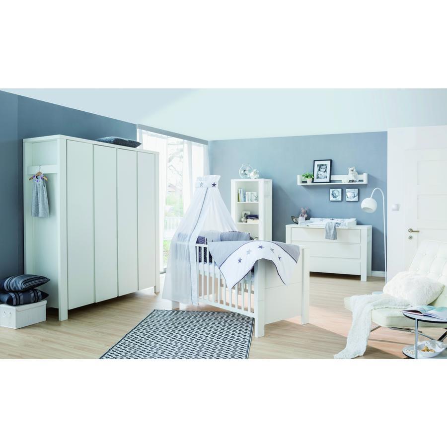 Schardt chambre d 39 enfant milano armoire 4 portes blanc - Armoire chambre 4 portes ...
