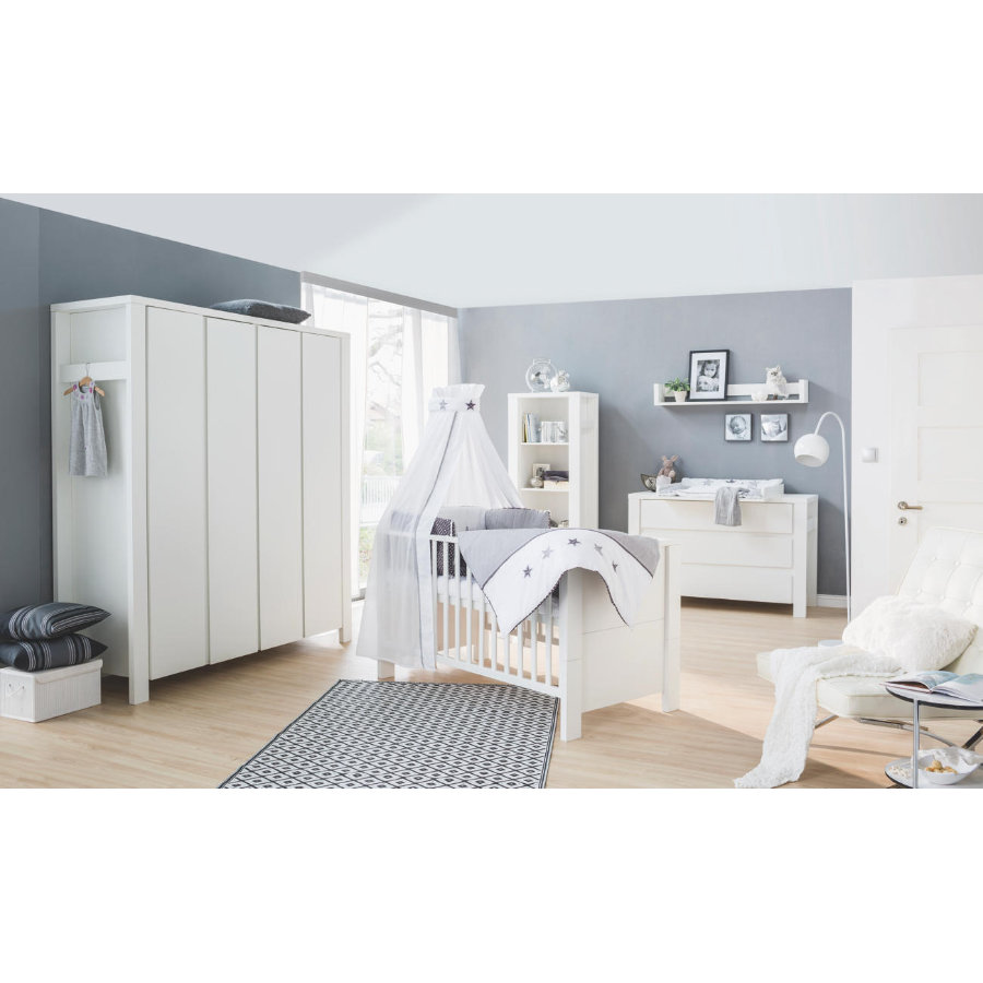 Schardt Milano -lastenhuoneen kalusteet ekstraleveä, valkoinen, neliovinen