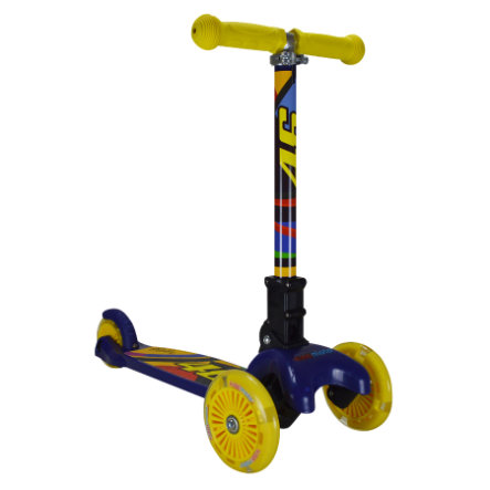 kiddimoto® 3-Rad Hero Scooter mit LED-Rädern - Valentino Rossi