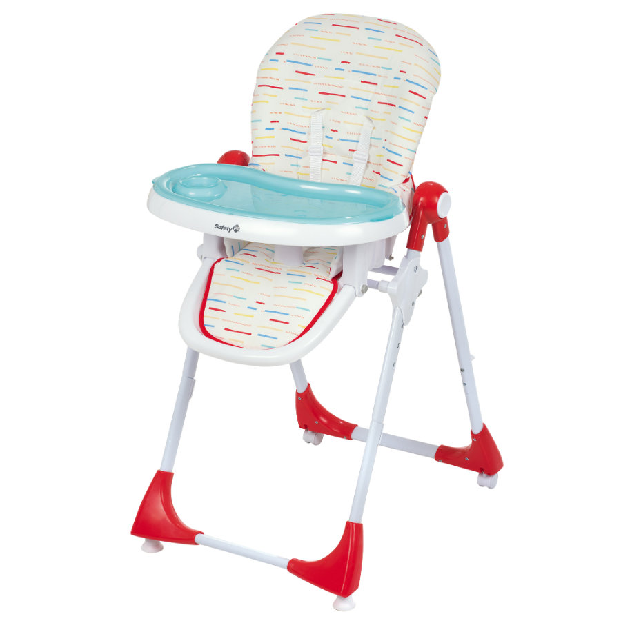 Safety 1st Chaise haute bébé Kiwi Red Lines