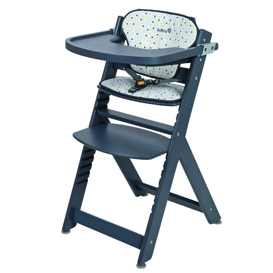 safety 1st hochstuhl timba mit sitzkissen grey patches grau. Black Bedroom Furniture Sets. Home Design Ideas
