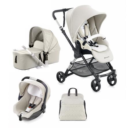 JANÉ Sittvagn Minnum inklusive babyskydd iKoos och liggdel Micro, Geo