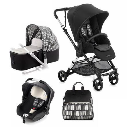 JANÈ Sportsvogn Minnum inklusive en babybilstol iKoos og en liggedel Micro, Nature