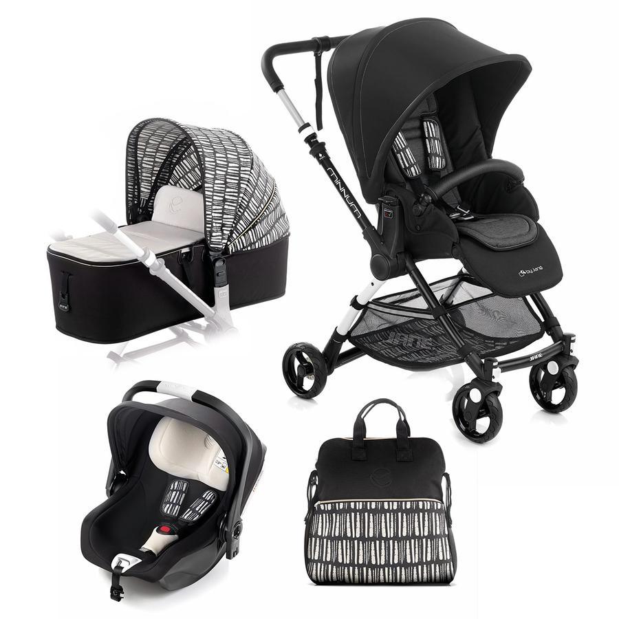 JANÉ Sportwagen Minnum inklusive Babyschale iKoos und Tragewanne Micro, Nature