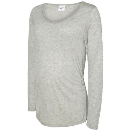 mama licious Camisa de manga larga MLWENDY Gris claro Melange