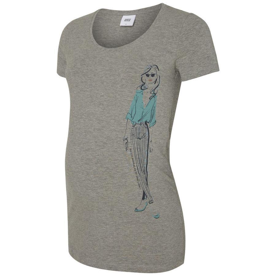 mama licious circumstance shirt MLELLIE Light Grey Melange