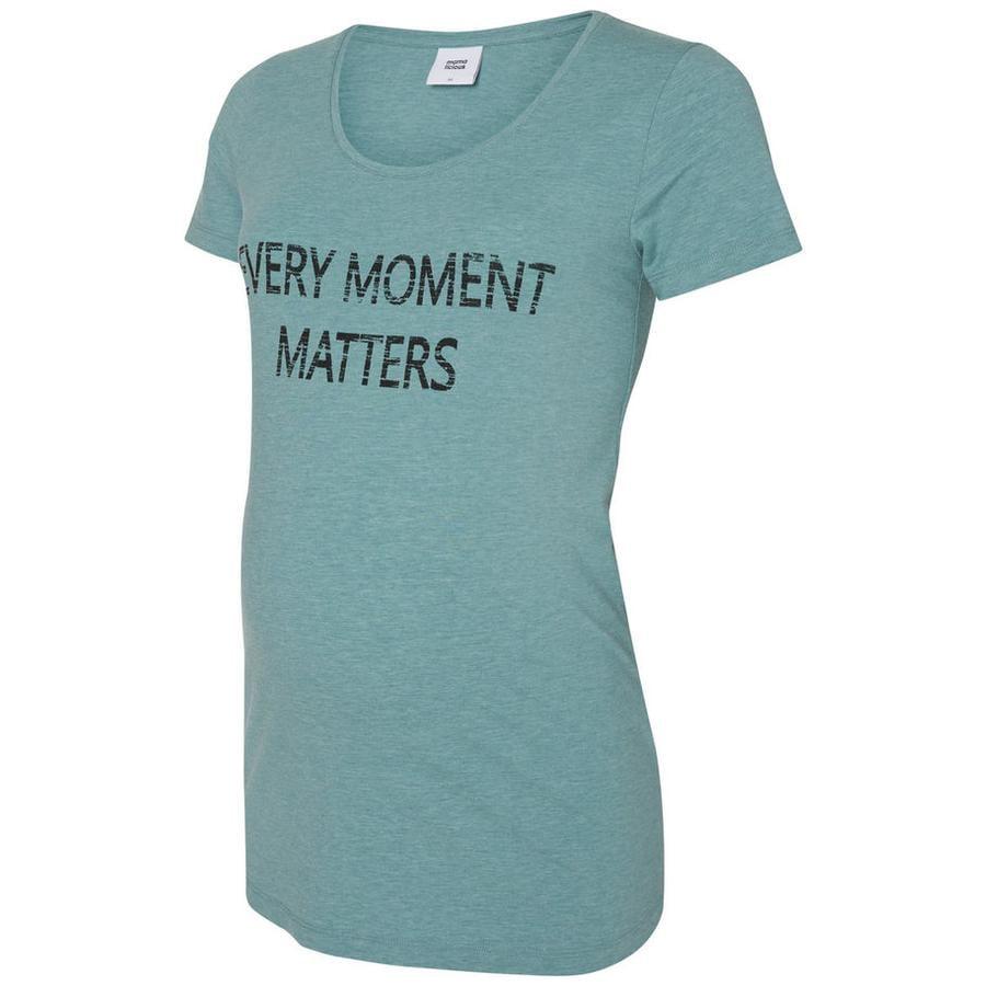 mama licious Koszulka ciążowa MLELLIE Niebieski mineralny