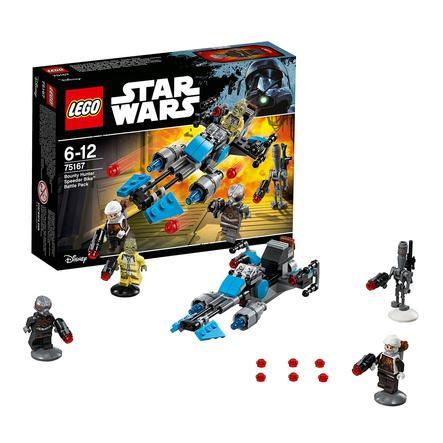 LEGO® Star Wars™ Pack de combat la moto speeder™ du Bounty Hunter 75167