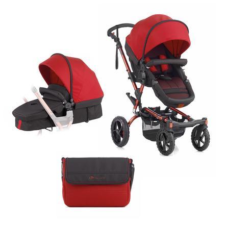 JANE Sportwagen Crosswalk inklusive Babywanne Convert Red