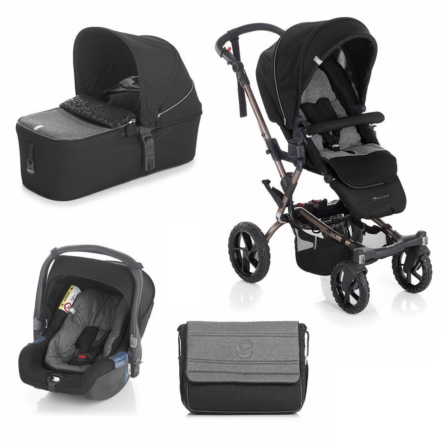 JANÉ Sportwagen Crosswalk inklusive Babyschale Koos und Tragewanne Micro Crater