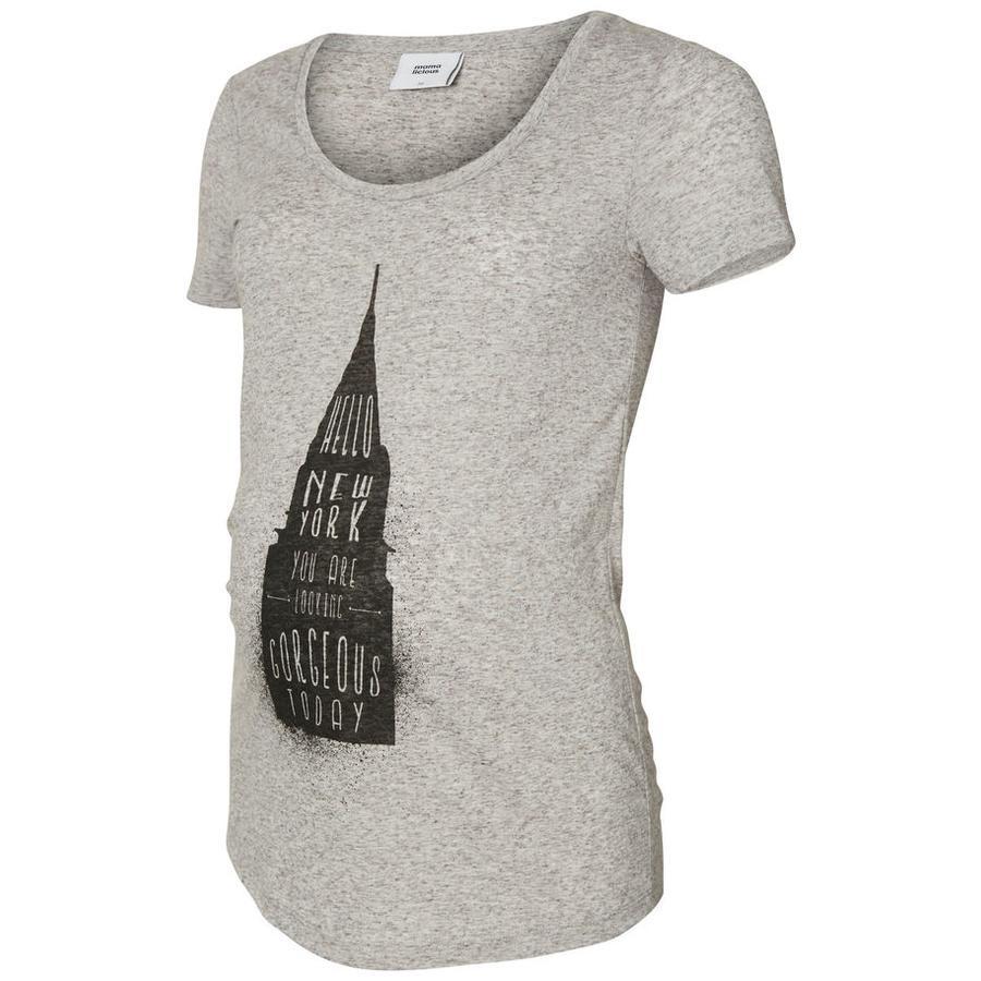 mama licious T-Shirt MLSPRING Grattacielo grigio