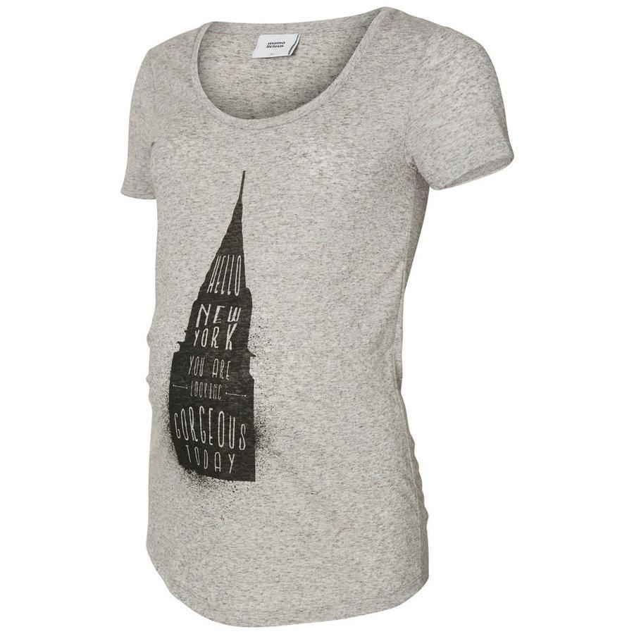mama licious T-Shirt Rascacielos Gris MLSPRING