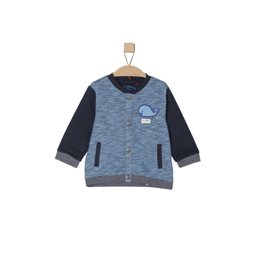 s.Oliver Boys Sweatjacke light blue melange