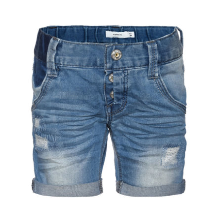 name it Boys Jeans Shorts Badry medium blue denim