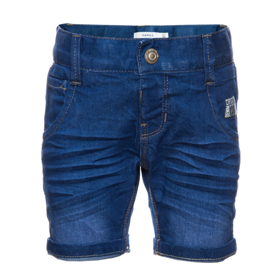 name it Boys Jeans Shorts Bacas medium blue denim