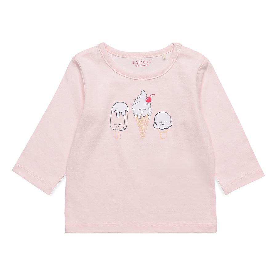 ESPRIT Långärmad skjorta Alive Pastel Pink