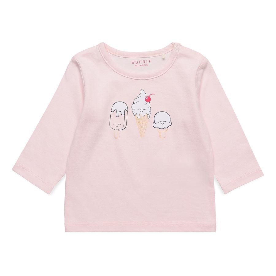 ESPRIT Pastelroze overhemd met lange Alive mouwen