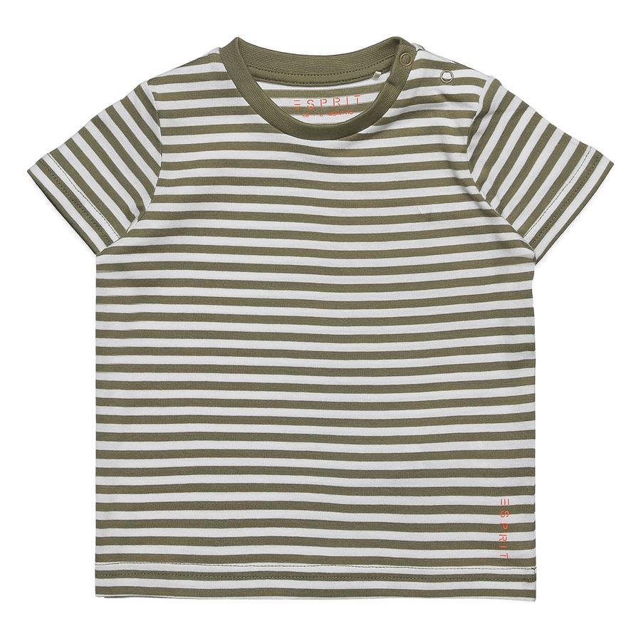ESPRIT T-Shirt Eric Pale Khaki gestreift