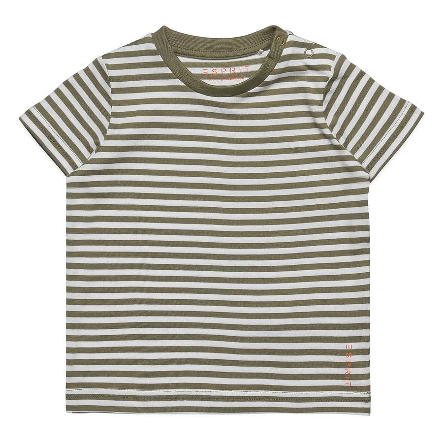ESPRIT T-Shirt Eric Pale Khaki, randig