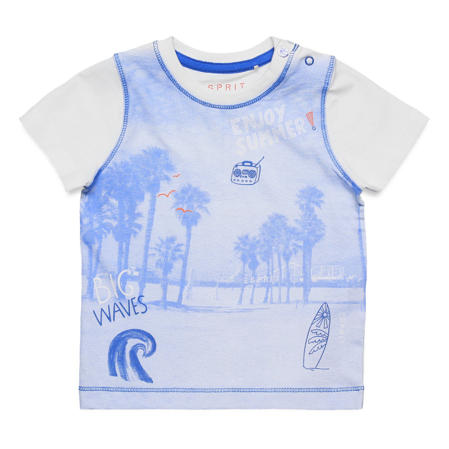 ESPRIT T-Shirt Beach blau