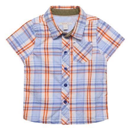 ESPRIT Boys Shirt geruit blauw