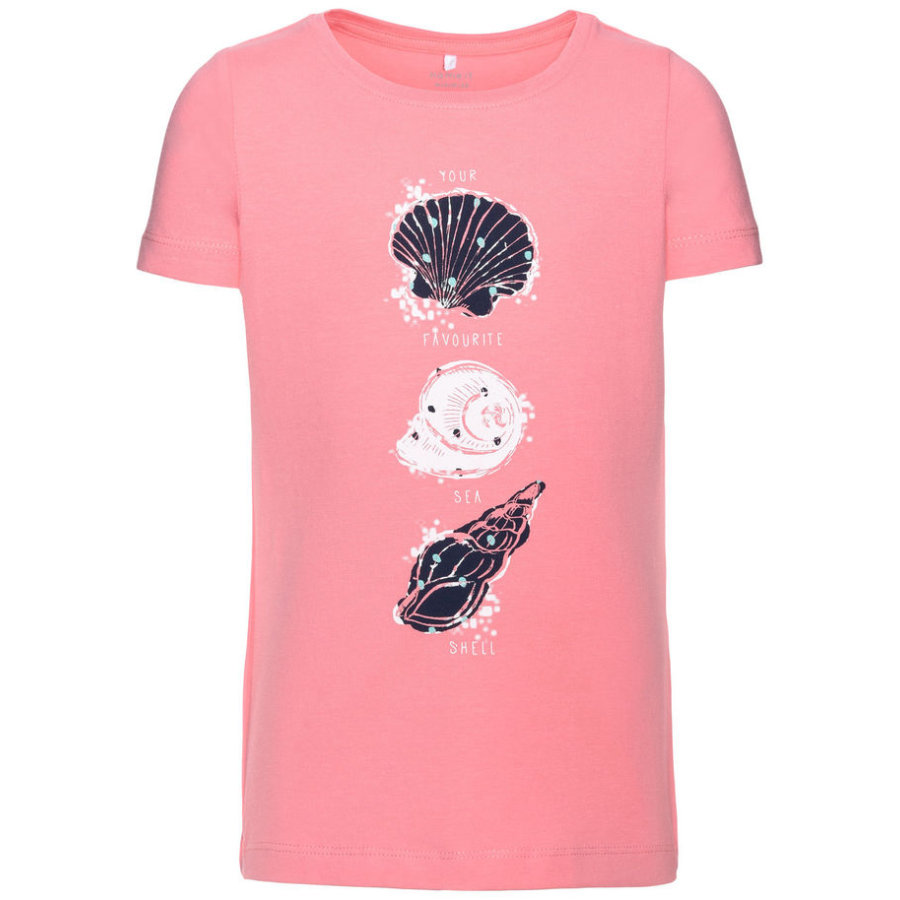 name it Girl s T-Shirt Vixfo flamant rose flamant rose