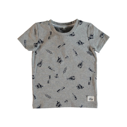 name it Boys T-Shirt Frans grey melange