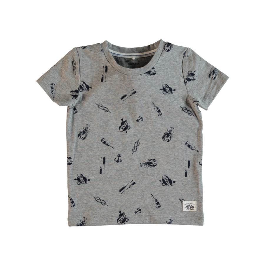 name it Boys T-Shirt Mélange gris Frans