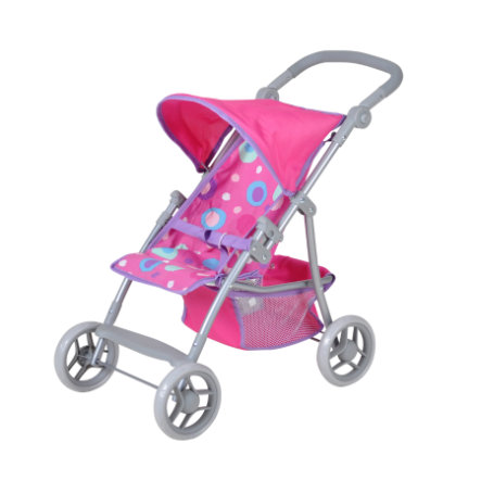 knorr® toys Golfový kočárek na panenky Liba - pink slash