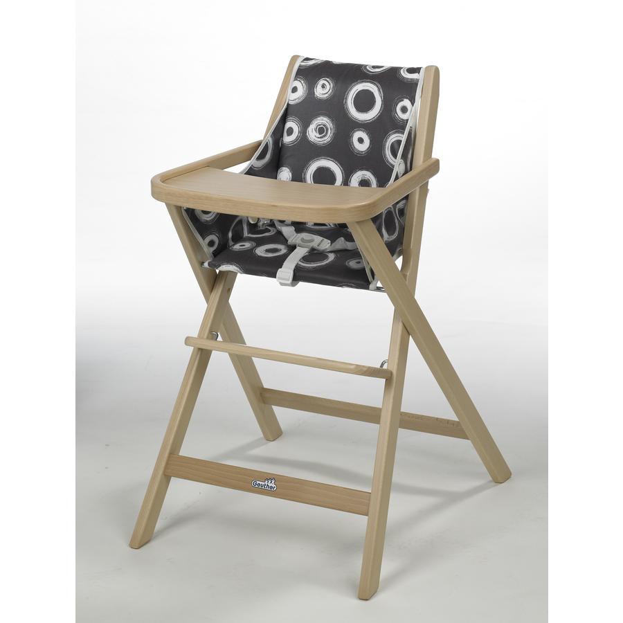 GEUTHER Krzesełko do karmienia TRAVELLER - naturalny