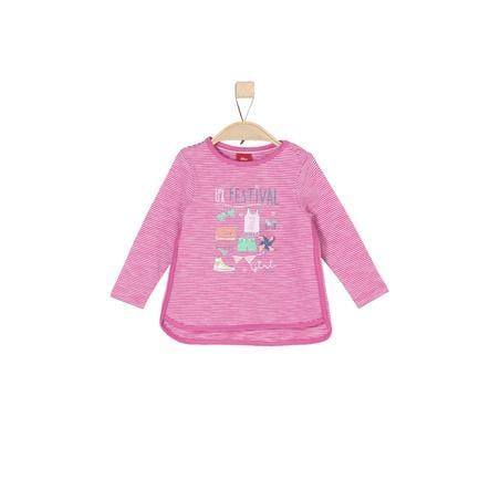 s.Oliver Girls Bluzka z długim rękawem pink stripes