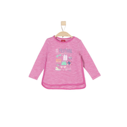 s.Oliver Girls Longsleeve pink stripes