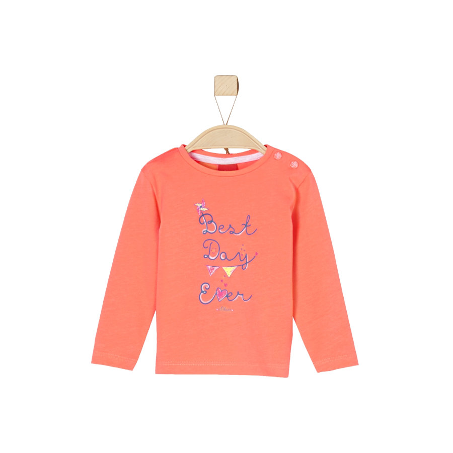 s.Oliver Girls Longsleeve orange