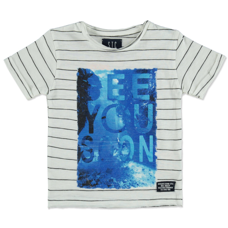 STACCATO Boys T-Shirt rayas blancas