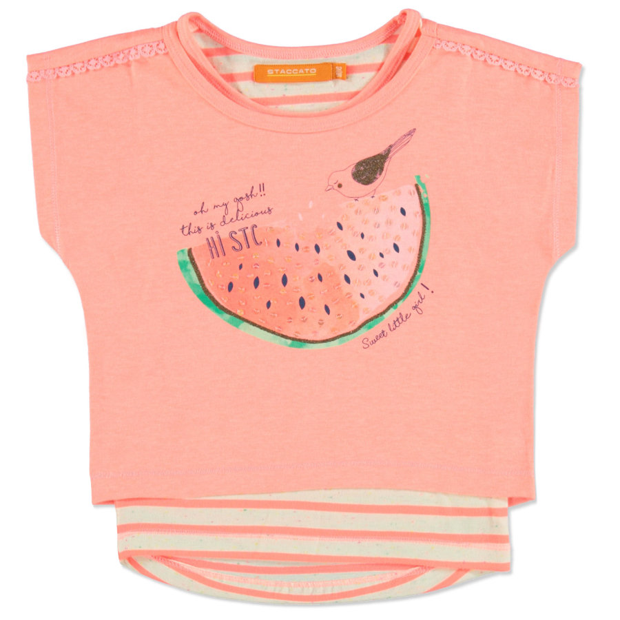 STACCATO Girls 2in 1 T-Shirt neon coral