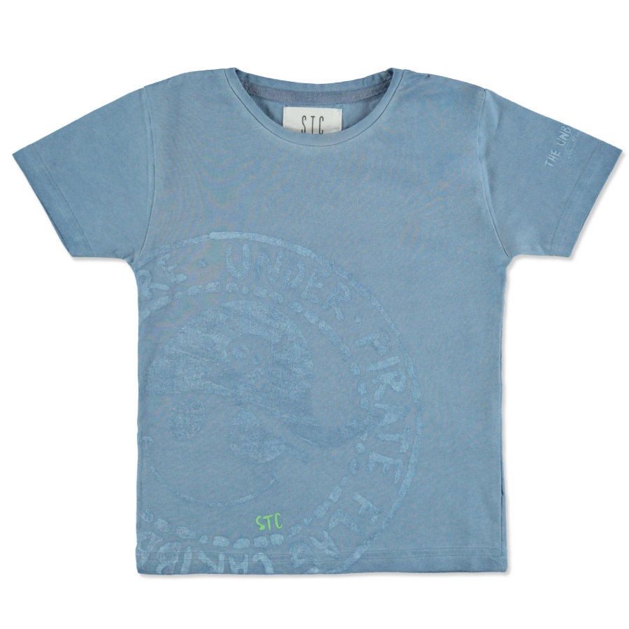 STACCATO T-Shirt waterblue melange