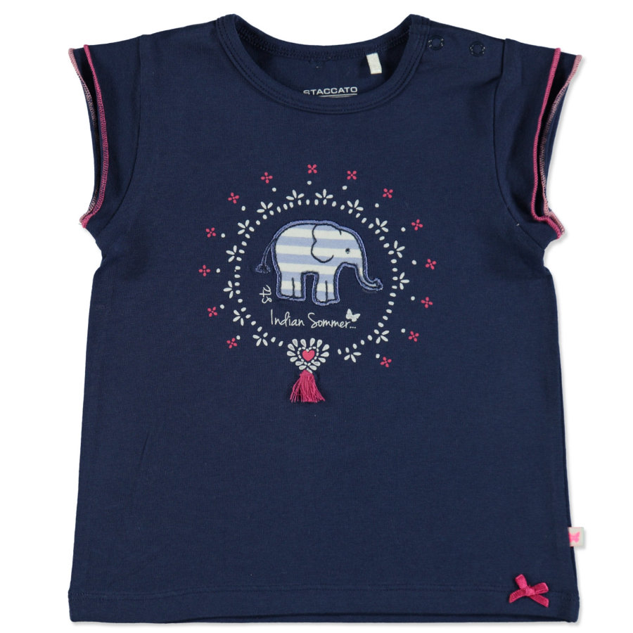 STACCATO Girls T-Shirt dark navy Elefant