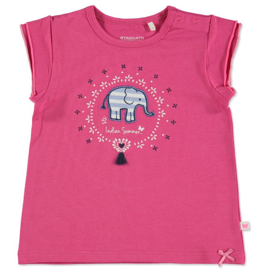 STACCATO Girls T-Shirt flamingo Elefant