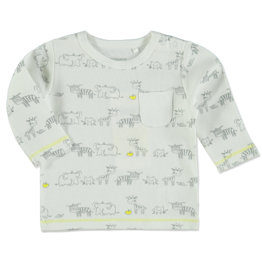 STACCATO Langarmshirt white animal
