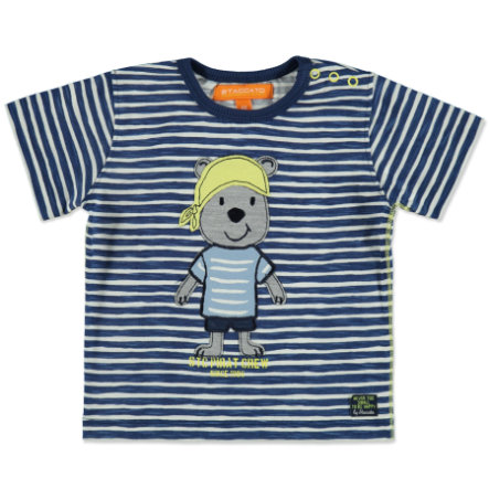 STACCATO Boys T-Shirt Streifen dark blue