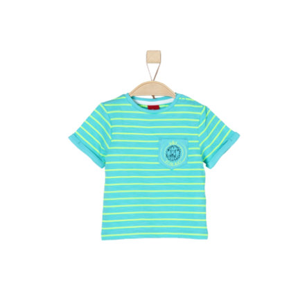 s.Oliver Boys T-Shirt rayures turquoises
