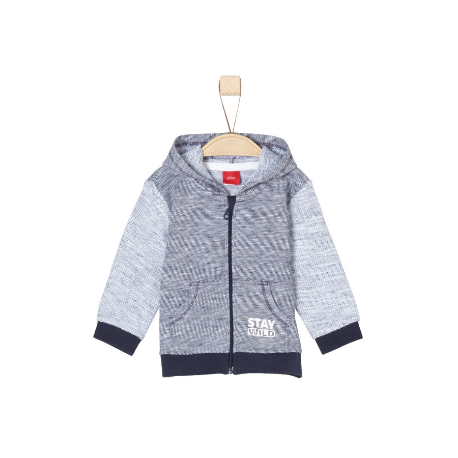 s.Oliver Boys Sweatjacke dark blue melange