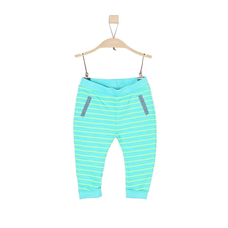 s.Oliver Boys Pantalon de survêtement à rayures turquoises
