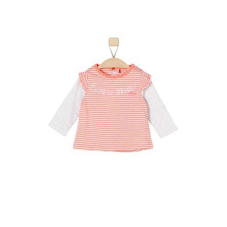 s.Oliver Girls Longsleeve orange stripes