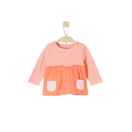 s.Oliver Girls Longsleeve orange stripes