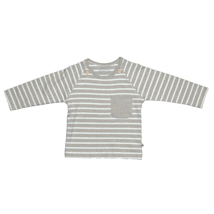 EBI & EBI Fairtrade camicia manica lunga a righe beige melange melange